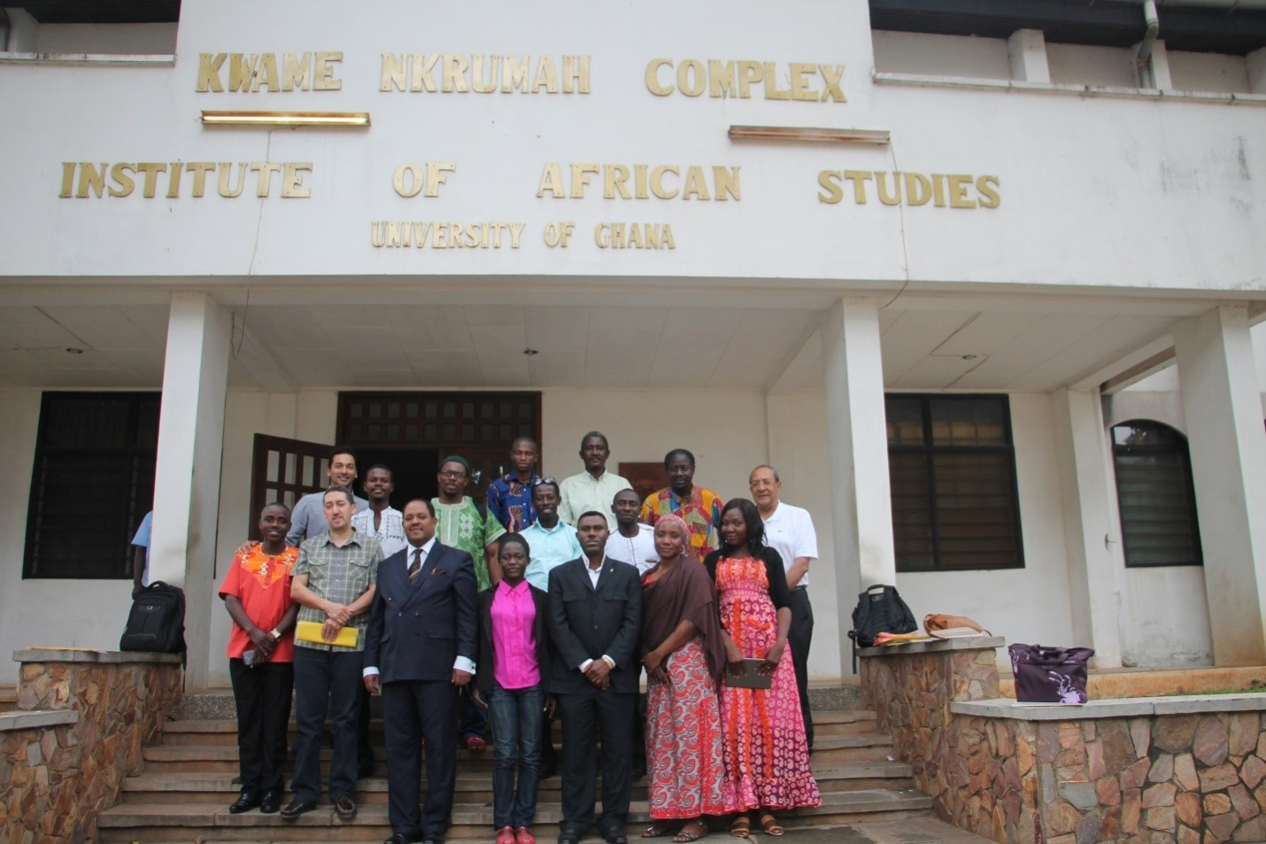 Ambassador Mussie Hailu at the IARJ conference with participants, 27 July 2016, Accra, Ghana. Photo: Mussie Hailu