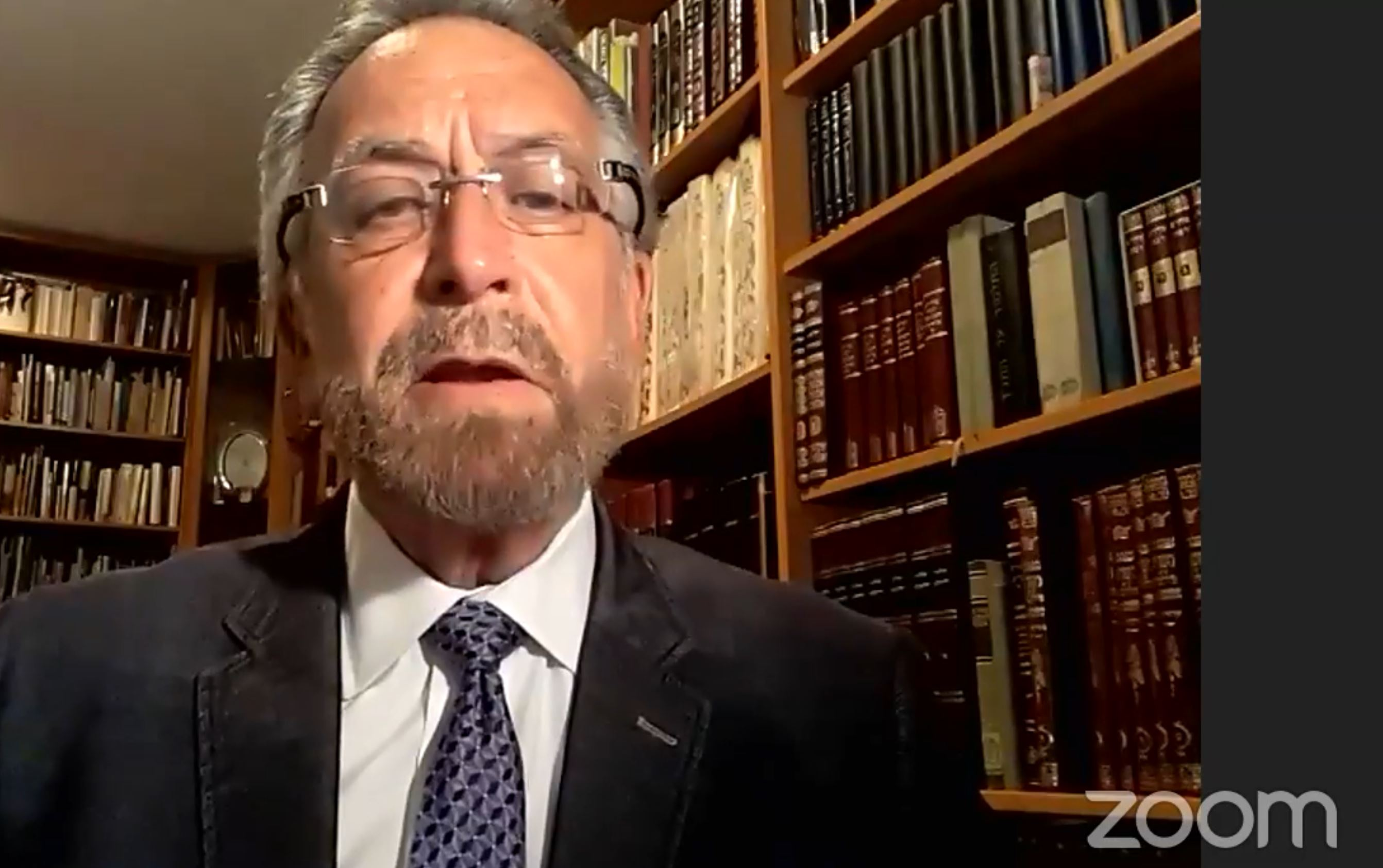 Cheif Rabbi David Rosen speaks from his home on International Holocaust Remembrance Day