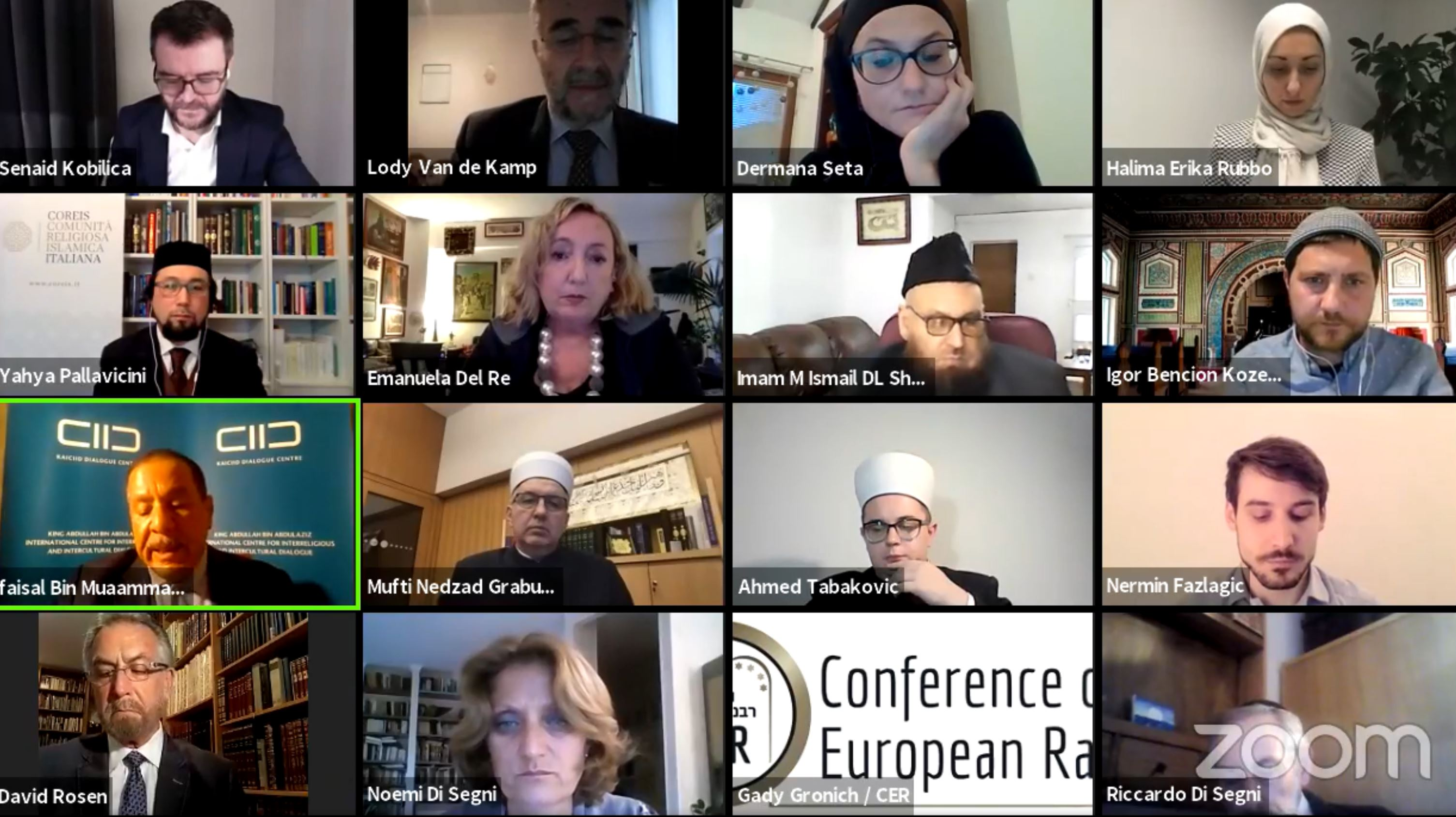 Muslim and Jewish leaders participate in a Zoom meeting for Holocaust Remembrance Day