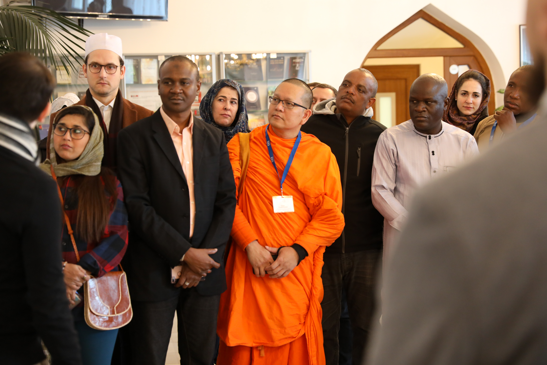 Dr. Auwal Farouk Abdussalam visiting houses of worship in Vienna as part of his activity in the KAICIID Fellows Programme (2018)
