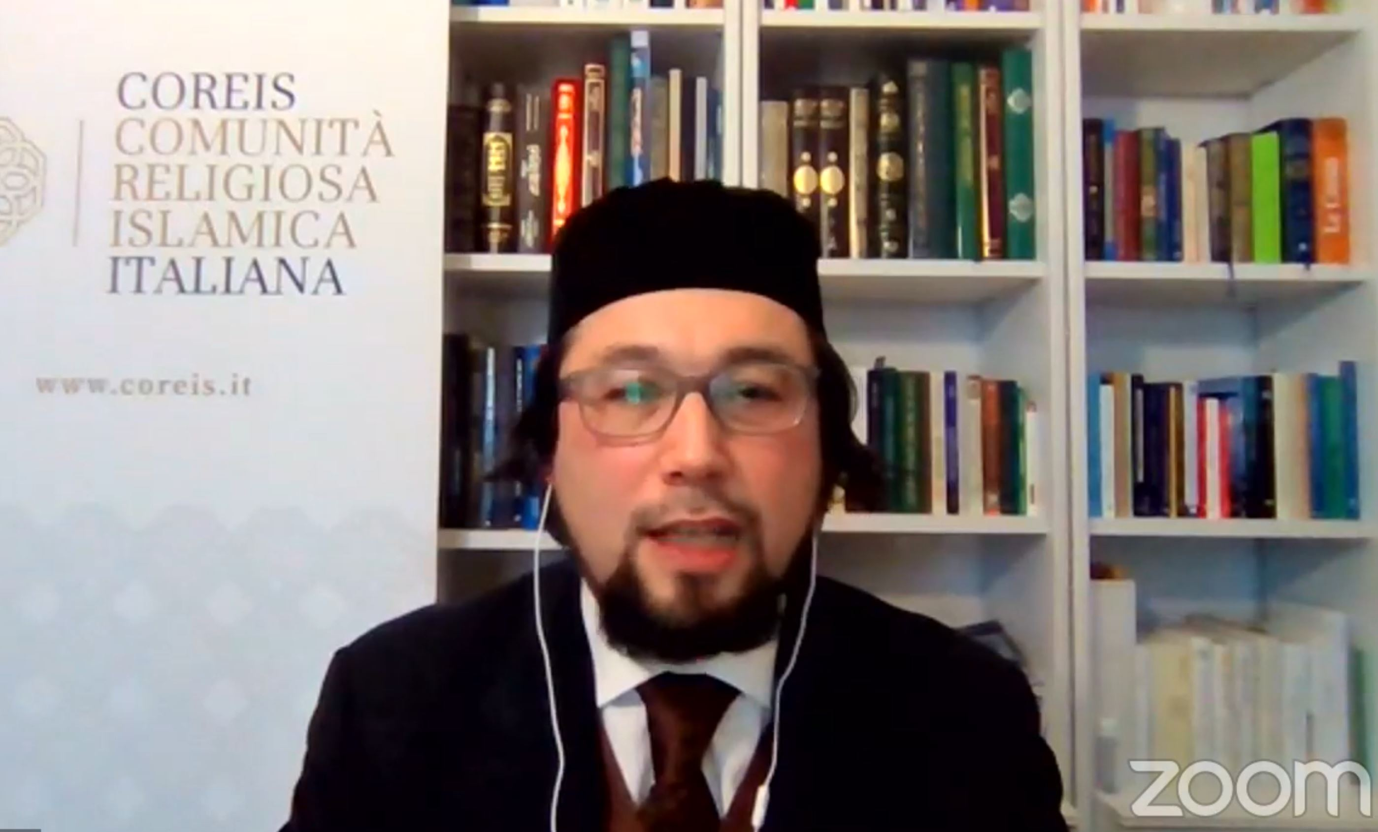 Imam Pallavicini speaks at an International Holocaust Remembrance day event