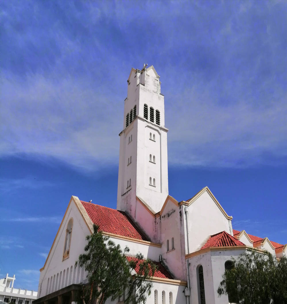 A photo of a church in Tanger, Morocco