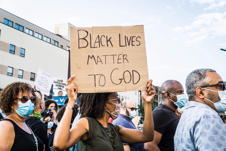Pastors, community leaders and local church members at a prayer walk in New York