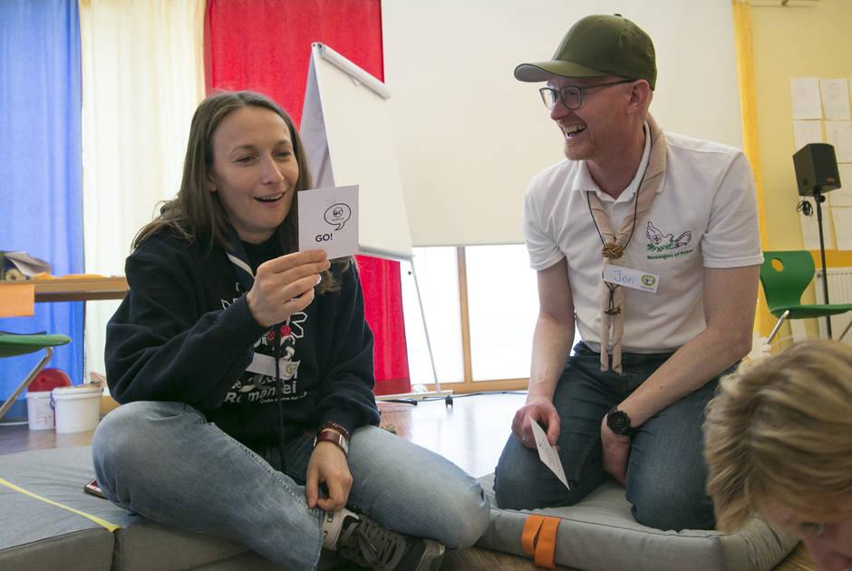 Jon Rasmussen participating in a WOSM workshop in Austria