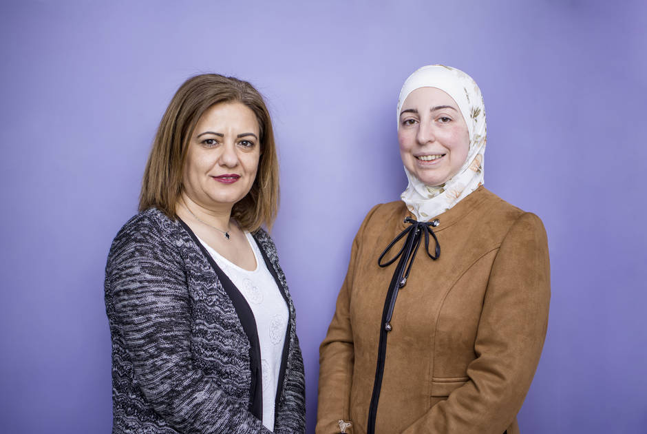 KAICIID Fellows Wafa' AlMakhamreh and Dr. Rania Alayoubi