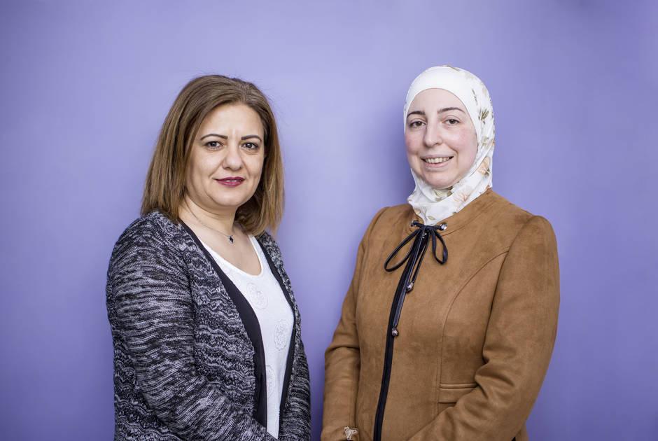 KAICIID Fellows Wafa' AlMakhamreh and Dr. Rania Alayoubi
