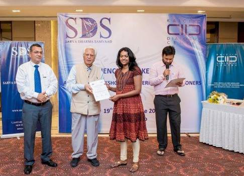 Participants receive their certificates at the conclusion of the training in New Delhi, India. Photo:Facebook