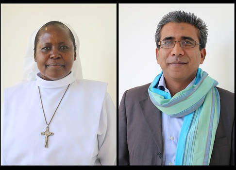 Sister Angelica Obaga and Mohammed Belall Maudarbux