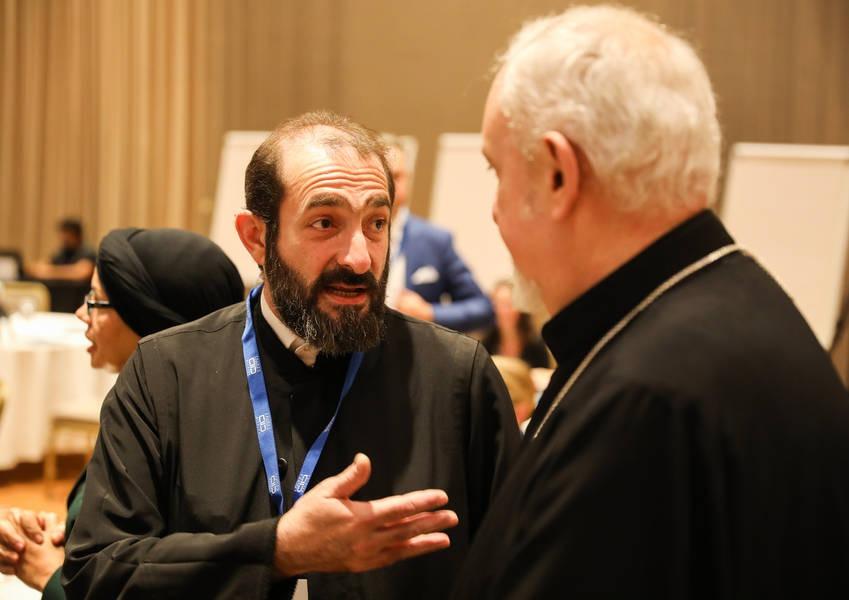 KAICIID Board Member Metropolitan Emmanuel Adamakis attending KAICIIDs 1st European Policy Forum in Athens
