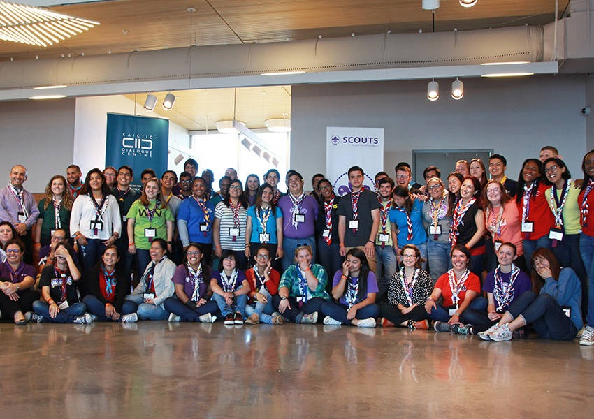 More than 80 Scouts from the Interamerican region were trained in intercultural and interreligious dialogue by experts from KAICIID and facilitators from WOSM at the Interamerican Scouts Youth Forum in Galveston, Texas. Photo: WOSM