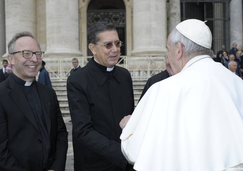 Father Ayuso and Pope Francis