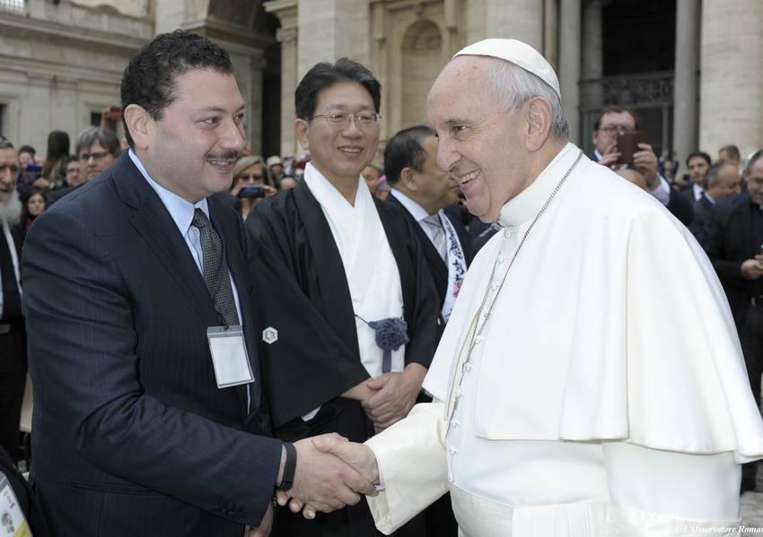 Fahad Abualnasr and Pope Francis
