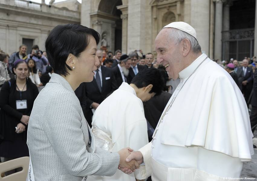 Reverend Niwano and Pope Francis