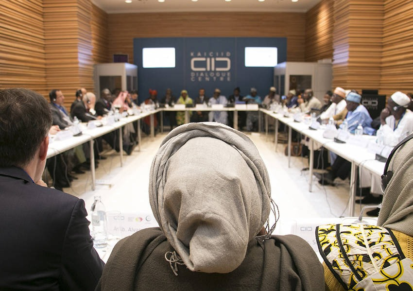 KAICIID convened a meeting of over 40 religious leaders, representatives from Muslim women and youth communities and civil society who agreed on common issues and wrote the action plan for the programme. Photo: KAICIID