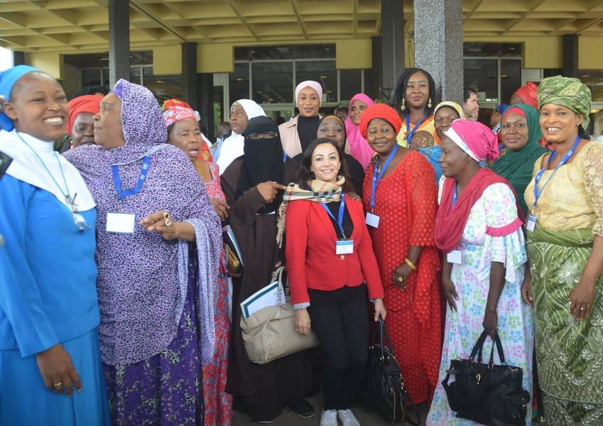 Muslim and Christian Women at the opening ceremony of the National Inter-Faith Dialogue meeting