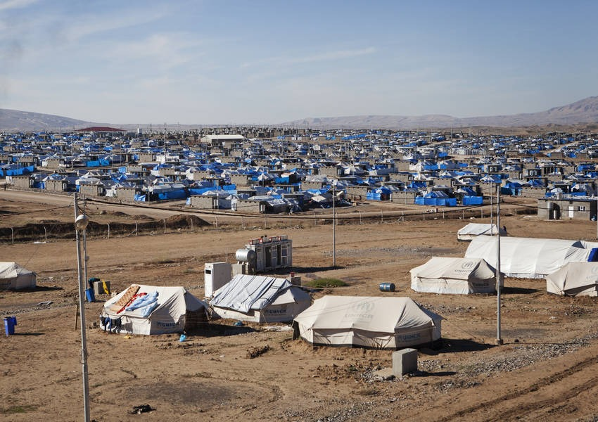 Camp Bajed Kandala in Northern Iraq close to the border with Syria with 40.000 refugees from Syria and Iraq. Most of the refugees at Camp Bajed Kandala are Yazidis from Sinjar and Sunnis from Zumar.