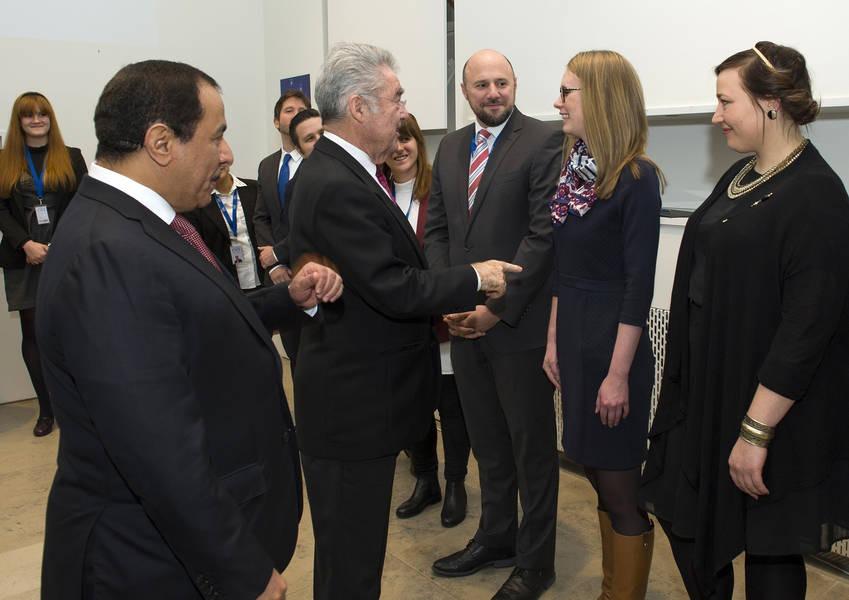 Federal President Fischer Meets KAICIID Staff
