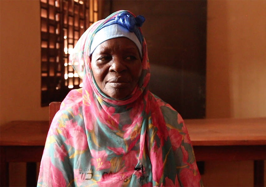 Awa Ngaina, is a Muslim resident of Bangui who fled her home in the 8th district due to violence. Photo: Kaleb Warnock/KAICIID