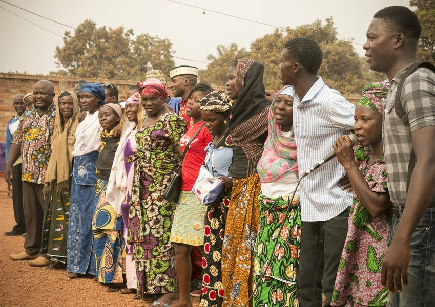 Christians and Muslims of Bangui participate in a peace march. Photo: Kaleb Warnock/KAICIID