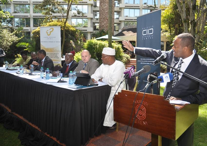 Panellists meet at the Serena Hotel in Nairobi to discuss the Impact of Media on Interreligious Relations
