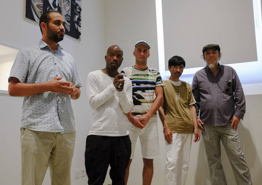 Each of the artists had the opportunity to speak about their work.