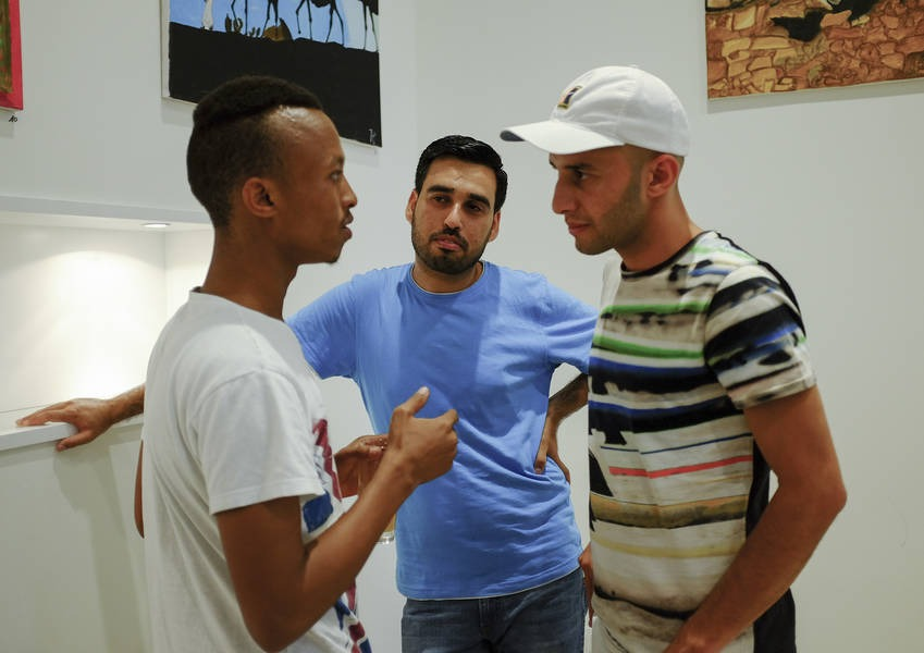 The artists had the opportunity to engage with the public.