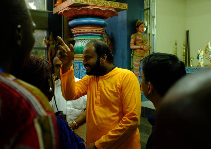 The tour of the Kovil, as they are called in Tamil because of their distinct architecture, was conducted by Jagrat Chaitanya, a Hindu monk who is a member of the 2016 Fellows class.