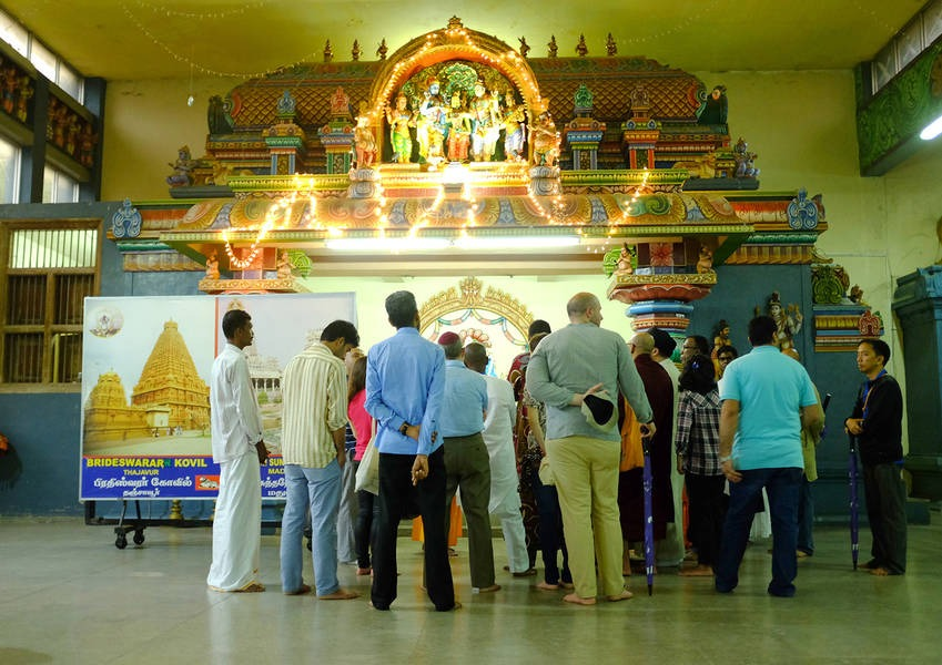 The Fellows learned about the Kovil and some of the practices they observed. For many, this was their first visit to a Hindu Kovil.