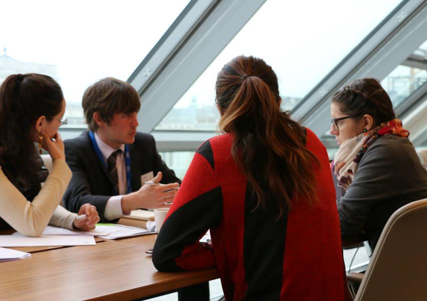 Students at the KAICIID Talking Dialogue workshop. Photo: KAICIID