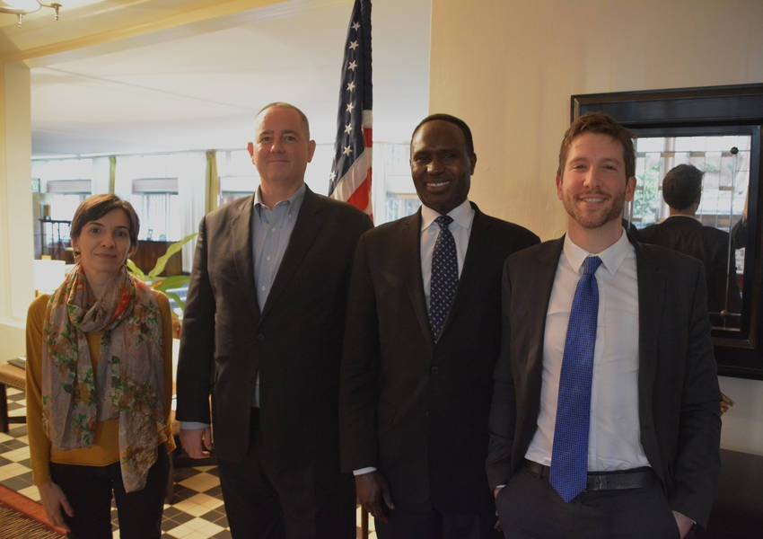 We had the opportunity to meet with the American Ambassador to the Central African Republic, Jeffrey J. Hawkins Jr. Photo: KAICIID