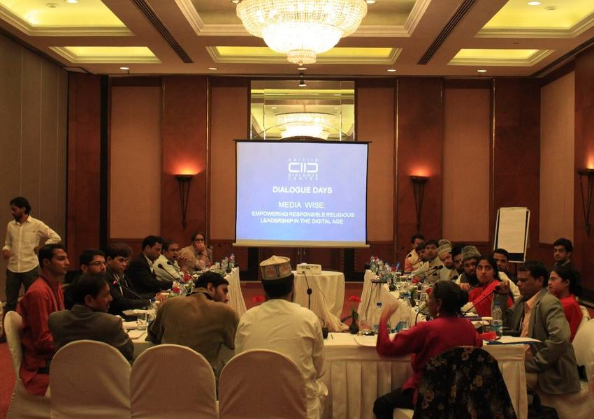 Media Wise participants in New Delhi analyze newspaper articles