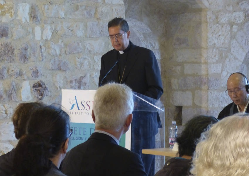 Bishop Michael Ayuso speaks at the conference