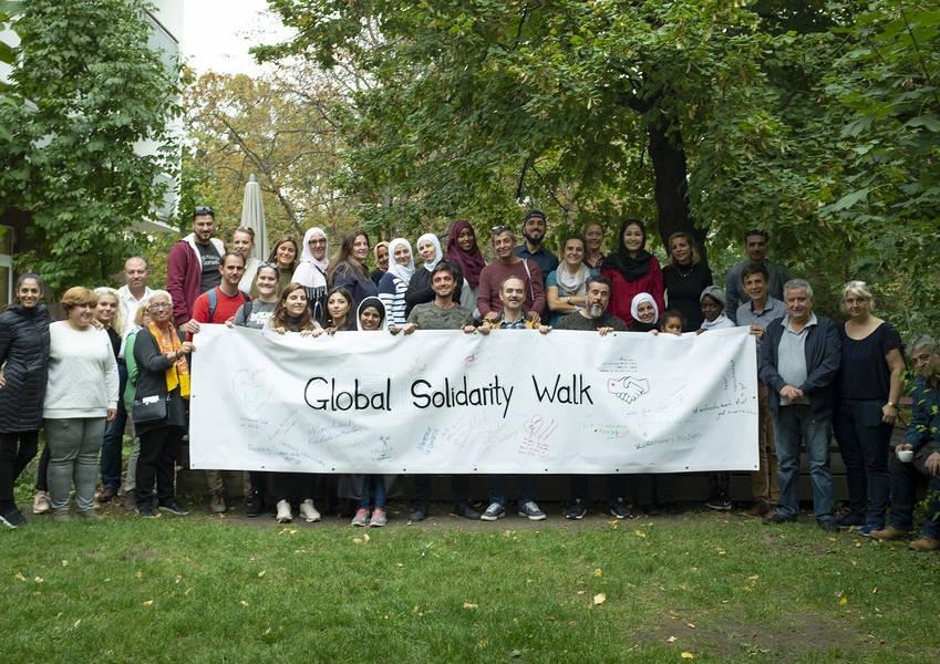 Group photo, Global Solidarity Walk in Vienna (October 2019)