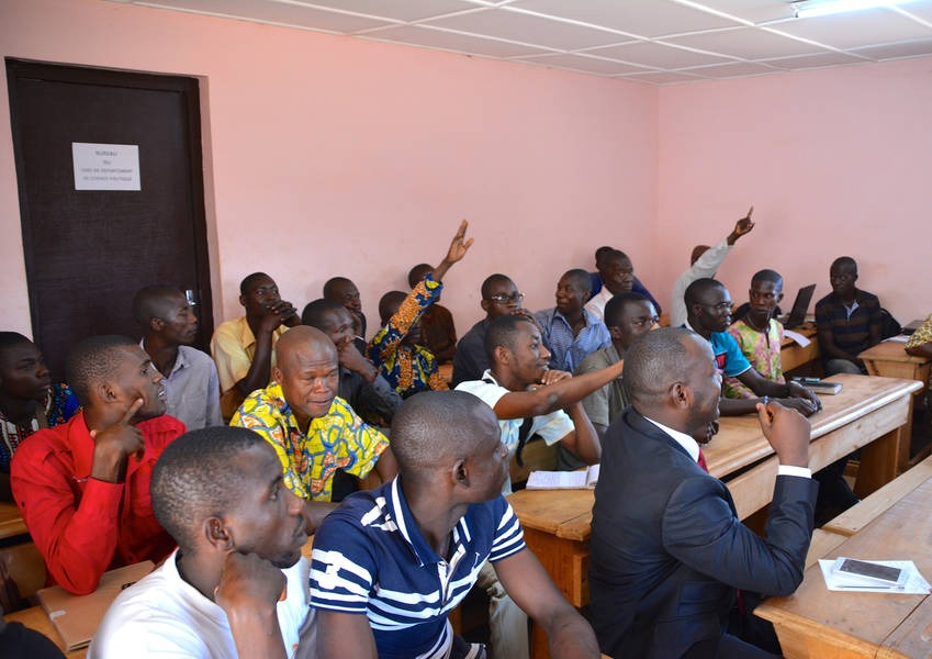 The students at the University in Bangui were genuinely interested in gaining skills in interreligious dialogue and peacebuilding to make a difference in their communities and to achieve peaceful coexistence. Photo: KAICIID